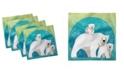 "Ambesonne Polar Bear Set of 4 Napkins, 18"" x 18"""