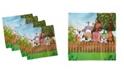 "Ambesonne Cartoon Set of 4 Napkins, 18"" x 18"""