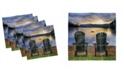 "Ambesonne Seaside Set of 4 Napkins, 18"" x 18"""