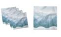 "Ambesonne Mountains Winter Set of 4 Napkins, 18"" x 18"""