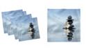 "Ambesonne Spa Set of 4 Napkins, 18"" x 18"""