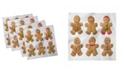 "Ambesonne Gingerbread Man Set of 4 Napkins, 18"" x 18"""