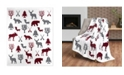 Safdie & Co Inc Throw Flannel Printed Ribbed Wildlife