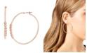 "Jessica Simpson Cubic Zirconia Stone Bar Hoop Earrings, 2"""
