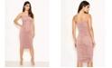 AX Paris Women's Ruched Strappy Bodycon Midi Dress