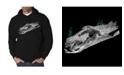 LA Pop Art Men's Ski Word Art Hooded Sweatshirt