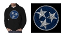 LA Pop Art Men's Tennessee Tristar Word Art Hooded Sweatshirt