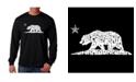 LA Pop Art Men's Word Art - California Dreamin Long Sleeve T-Shirt