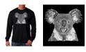 LA Pop Art Men's Word Art - Koala Long Sleeve T-Shirt