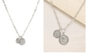 ETTIKA The Adventurer Double Rhodium Coin Women's Necklace