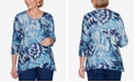 Alfred Dunner Petite Panama City Printed Strappy Top