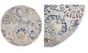 "Global Rug Designs Haven Hav13 Ivory and Navy 7'10"" x 7'10"" Round Rug"