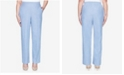 Alfred Dunner Plus Size Pull On Back Elastic Chambray Proportioned Medium Pant