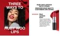 MAC Three Ways To Ruby Woo Lips