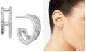 AVA NADRI Cubic Zirconia Faux-Double Hoop Earrings