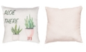 """Small World Home Aloe There 20"""" x 20"""" Outdoor Decorative Pillow"""