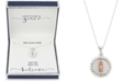 "Unwritten Gratitude & Grace Cubic Zirconia Mother-of-Pearl Inlay Two-Tone Saint Pendant Necklace in Fine Silver-Plate & Rose Gold-Flash, 16"" + 2"" extender"