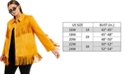 Danielle Bernstein Plus Size Faux-Suede Fringe Jacket, Created for Macy's