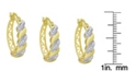 Macy's Diamond Accent Gold-plated San Marco Hoop Earrings