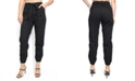 Almost Famous Crave Fame Juniors' Belted Jogger Pants