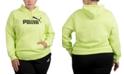 Puma Plus Size Fleece Logo Hooded Sweatshirt