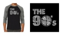 LA Pop Art 90's Men's Raglan Word Art T-shirt