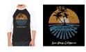 LA Pop Art Cities in San Diego Men's Raglan Word Art T-shirt
