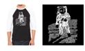LA Pop Art Astronaut Men's Raglan Word Art T-shirt