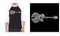 LA Pop Art Country Guitar Men's Raglan Word Art T-shirt
