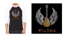 LA Pop Art Lyrics to Free Bird Men's Raglan Word Art T-shirt