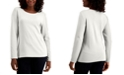 Karen Scott Cotton Long-Sleeve T-Shirt, Created for Macy's