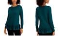 Style & Co Ruffle-Hem Sweater, Created for Macy's