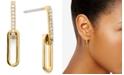 AVA NADRI Cubic Zirconia Link Double Drop Earrings