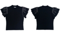 Bar III Fringe Flutter Sleeve Top, Created for Macy's
