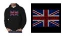 LA Pop Art Men's Word Art Hooded Sweatshirt - God Save The Queen