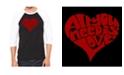 LA Pop Art Men's Raglan Word Art T-shirt - All You Need is Love