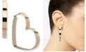 "DKNY Gold-Tone Large Heart Hoop Earrings, 2.1"""