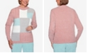 Alfred Dunner Women's Plus Size St. Moritz Chenille Colorblock Sweater