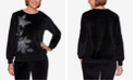 Alfred Dunner Women's Plus Size Modern Living Velour Asymmetric Top