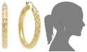Italian Gold Signature Gold™ Diamond-Cut Hoop Earrings in 14k Gold over Resin