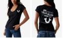 True Religion Cotton Logo V-Neck T-Shirt