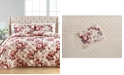 Martha Stewart Collection Gilded Floral Velvet Quilted King Sham, Created for Macy's