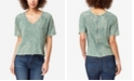 Skinnygirl Women's Regular Emerald Zipper Back Top