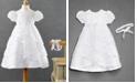 Lauren Madison Baby Girls Headband & Crisscross Christening Dress Set
