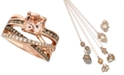 Le Vian Peach Morganite (1-3/4 ct. t.w.) and Diamond (3/4 ct. t.w.) Ring in 14k Rose Gold