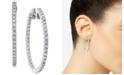Macy's Diamond Hoop Earrings in 14k White Gold (2 ct. t.w.)