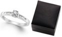 Macy's Diamond Promise Ring in Sterling Silver (1/4 ct. t.w.)
