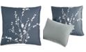 """Calvin Klein CLOSEOUT! Pyrus Metallic Bouquet 18"""" Square Decorative Pillow"""