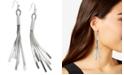 GUESS Herringbone Chain Fringe Earrings