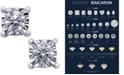 TruMiracle Square Diamond Stud Earrings (1/4 ct. t.w.) in 14k White Gold